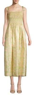 Calvin Klein Smocked Fit-&-Flare Dress