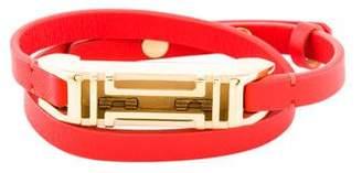 Tory Burch Fitbit Leather Double Wrap Bracelet