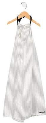 Factory Little Creative Girls' Striped Halter Dress