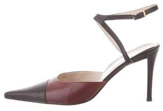 Chanel Pointed Cap-Toe Pumps