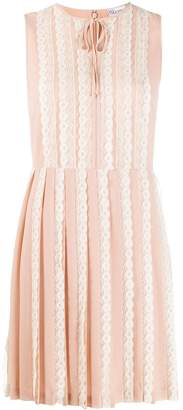 RED Valentino RED(V) pleated midi dress
