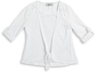 Ally B Girls 2-6x Lace Trim Mock Layer Top $32 thestylecure.com
