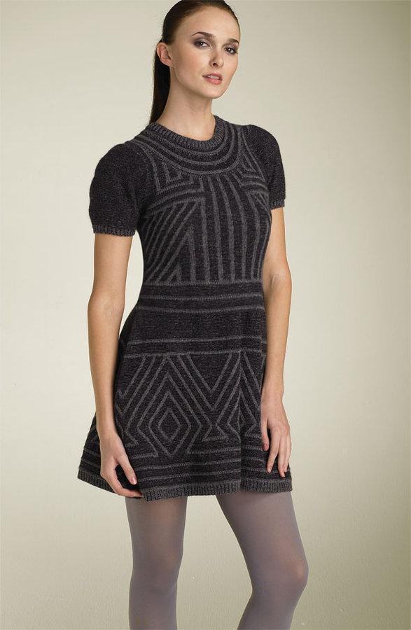 BCBGMAXAZRIA Graphic Sweater Dress