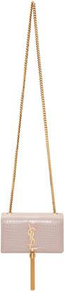 Saint Laurent Pink Small Monogram Kate Tassel Satchel $2,150 thestylecure.com