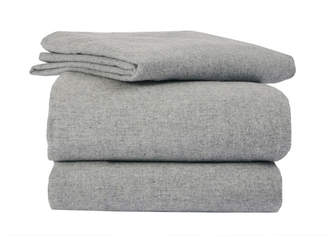 Solid Heather Flannel Sheet Set King Bedding