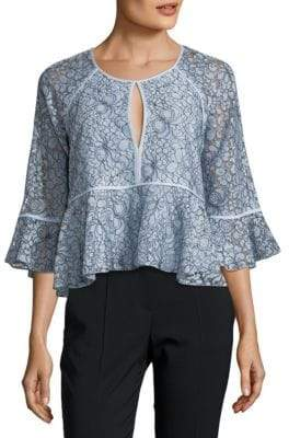 LIKELY Avers Lace Peplum Top