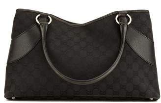 80c1b1bc17f7 Gucci Black GG Monogram Canvas Tote Bag (4043006)