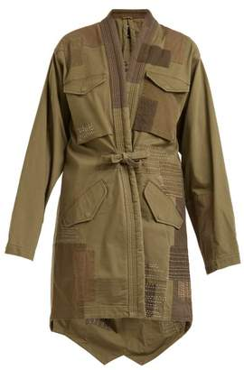 MHI Patchwork Cotton Blend Jacket - Womens - Green