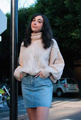 Azalea Chunky Cable Knit Turtleneck Sweater