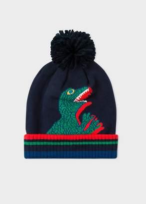 Boys' 5-16 Years Navy 'Dino' Beanie Hat