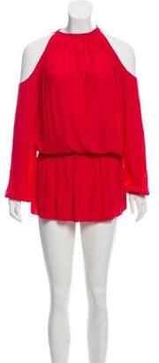 Ramy Brook Cold-Shoulder Knee-Length Dress
