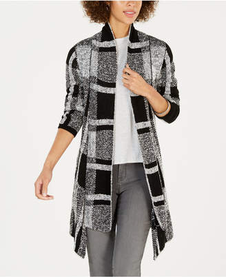 Style&Co. Style & Co Petite Plaid Boucle Cardigan