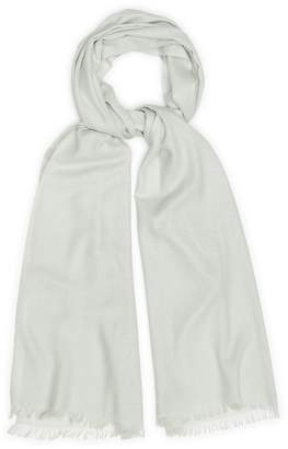 Reiss Our last order date for Christmas has now passed FLORA LIGHTWEIGHT PASHMINA Light Grey