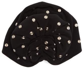Norma Kamali Stud Embellished Fan Turban Hat - Womens - Black