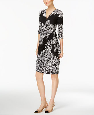 INC International Concepts Printed Faux-Wrap Dress, Only at Macy's $89.50 thestylecure.com