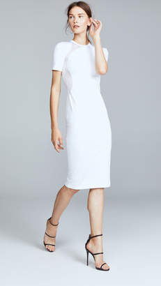 Cushnie et Ochs White Gala Mesh Panel Dress