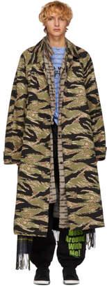 Vetements Green Camo Trench Coat