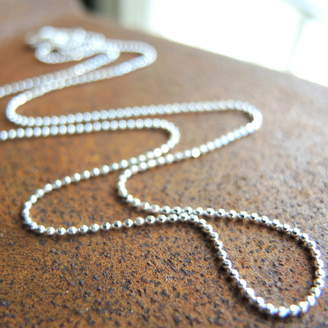 The Alphabet Gift Shop Sterling Silver Ball Chain For Heart And Ring Charms