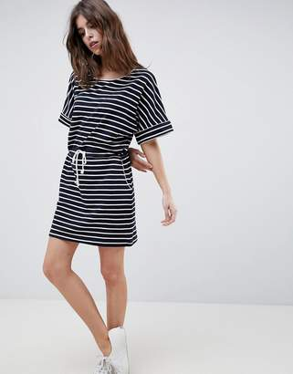Esprit Drawstring Stripe T-Shirt Dress