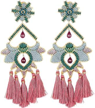 Mercedes Salazar Rose Paramo Flower Earrings