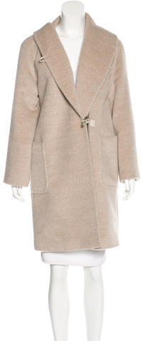 Max Mara MaxMara Knee-Length Alpaca Coat