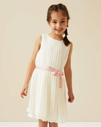Jigsaw Pleated Dress With Sash