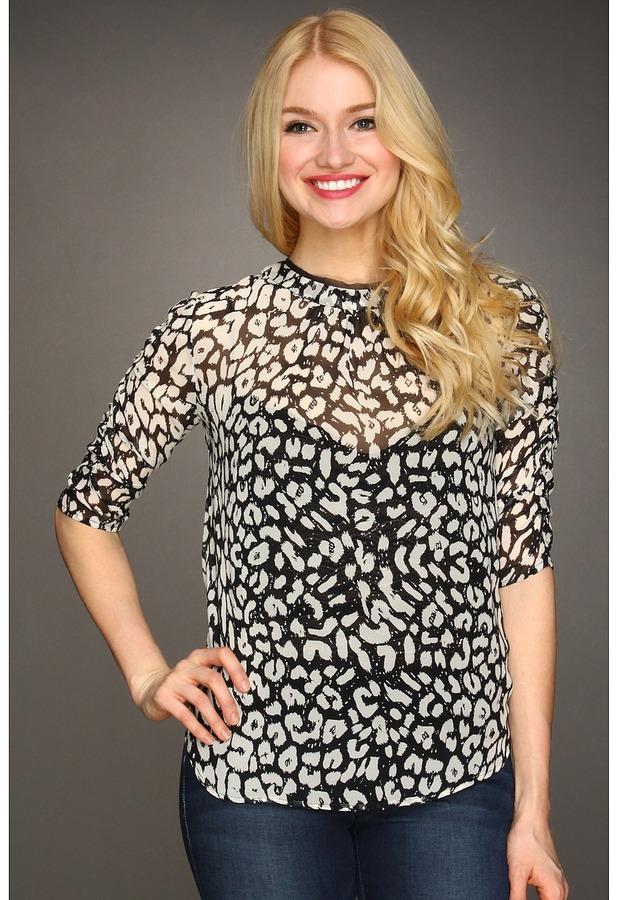 Dolce Vita Chanier Leopard Top (Black/White) - Apparel