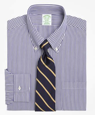 Brooks Brothers Milano Slim-Fit Dress Shirt, Non-Iron Bengal Stripe