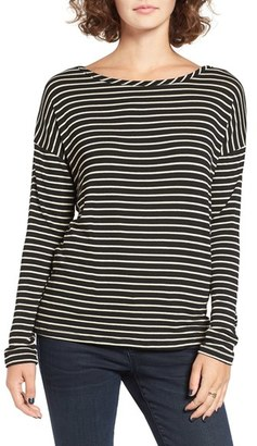 Women's Bp. Stripe Open Back Tee $35 thestylecure.com