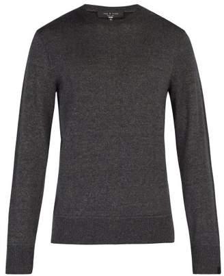 Rag & Bone Dean Wool Blend Sweater - Mens - Grey