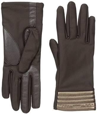 Isotoner Women's Spandex Stretch Touchscreen Texting Cold Weather Gloves with Warm Fleece Lining and Metallic Details