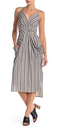BCBGeneration Faux Wrap Stripe Print Dress