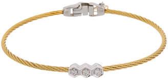 Alor 14K White Gold Stainless Steel Diamond Bracelet