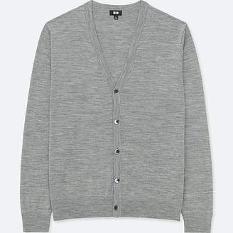 Uniqlo Men's Extra Fine Merino V-Neck Long-sleeve Cardigan