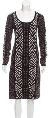 Carmen Marc Valvo Printed Midi Dress