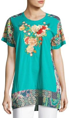 Johnny Was Yokito Embroidered Top, Multi $189 thestylecure.com