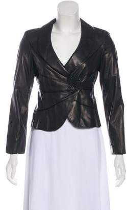 Armani Collezioni Embellished Leather Jacket