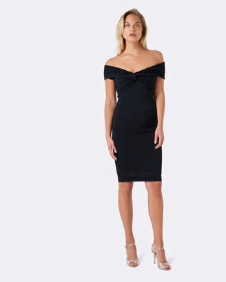 Forever New Lulu Knot Front Bardot Dress