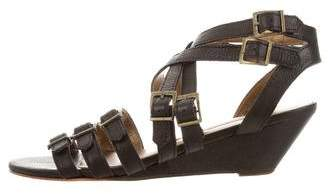 Cynthia Vincent Leather Wedge Sandals