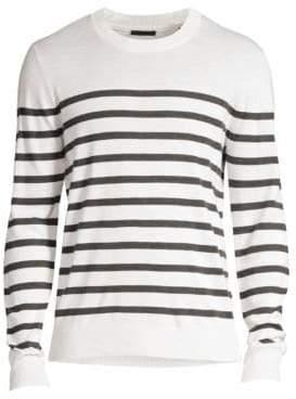ATM Anthony Thomas Melillo Silk& Wool Sailor Stripe Sweater