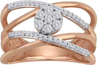 JCPenney FINE JEWELRY diamond blossom 1/4 CT. T.W. Diamond Cluster Orbit Ring