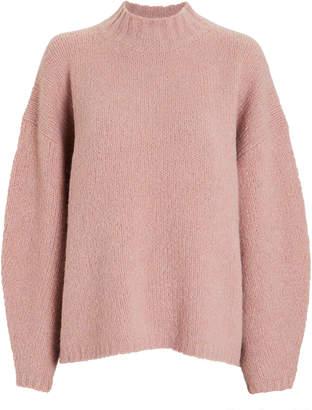 3.1 Phillip Lim Oversized Mock Neck Boucle Sweater