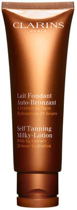 Clarins Self Tanning Milky-Lotion For Face and Body, 4.2 oz.