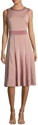 Ava & Aiden Contrast Panel Midi Dress