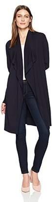 Lark & Ro Women's Long Waterfall Cardigan Sweater