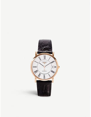 Longines L4.778.8.11.0 Presence rose gold-plated steel watch