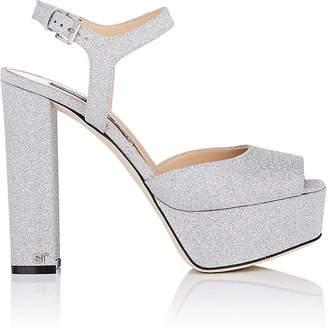 Sergio Rossi Women's Glitter Platform Sandals