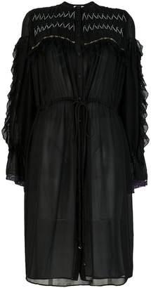 Koché flared shirt dress