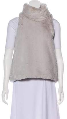 Marissa Webb Faux Fur Sleeveless Turtleneck
