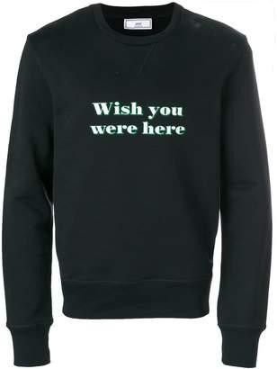 Ami Alexandre Mattiussi Wish You Were Here sweatshirt
